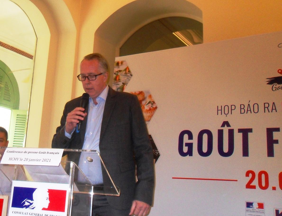 Ông Jean-Luc Cabirol- Chủ tịch Ủy ban chứng nhận Goût Français phát biểu