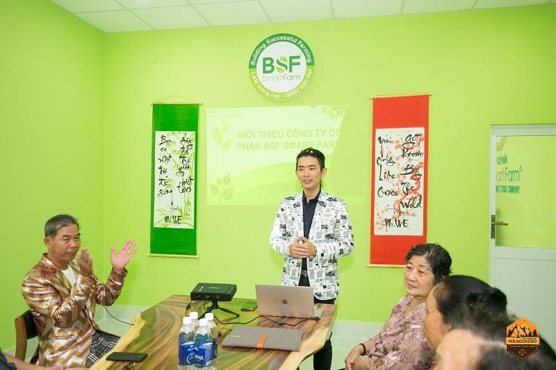 Ông Trần Minh Nhật – Tổng Giám đốc Công ty CP BSF Smart Farm chia sẻ thông tin tại Hội thảo