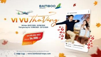 Vi vu thu vàng cùng Bamboo Airways với vé đồng giá 36.000 đồng