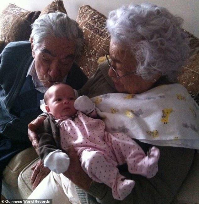 Kỷ lục Guinness ghi nhận cặp vợ chồng cao tuổi nhất thế giới - 1