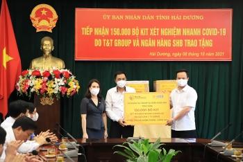 T&T Group và Ngân hàng SHB hỗ trợ tỉnh Hải Dương 150.000 bộ kit xét nghiệm nhanh COVID-19