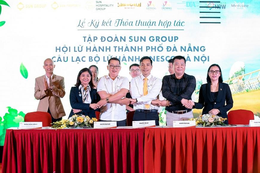 Lễ ký kết hợp tác giữa Sun Group và Hội LHTP Đà Nẵng, CLB Unesco