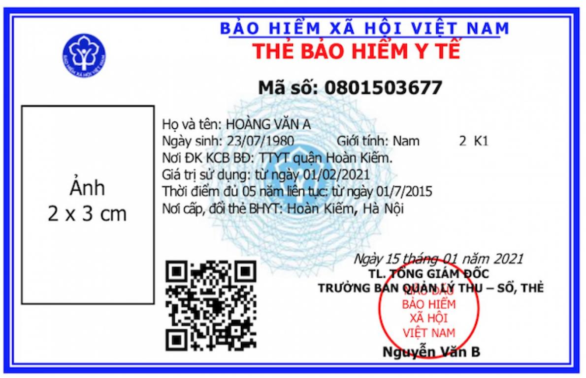 Ban hành mẫu thẻ BHYT mới, chính thức sử dụng trên toàn quốc từ 4/2021