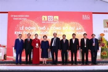 Tập đoàn BRG động thổ và công bố Dự án Khu du lịch quốc tế đa chức năng cao cấp tại Hà Nam