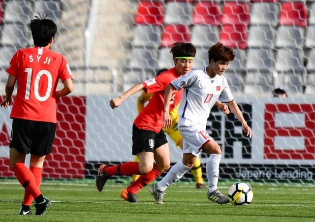 Thua đậm Hàn Quốc, đội tuyển nữ Việt Nam đứng nhì bảng - 1