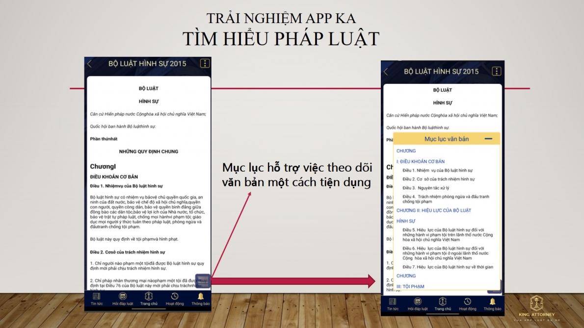 Ứng dụng App King Attorney: Để pháp luật lan toả đến cộng đồng