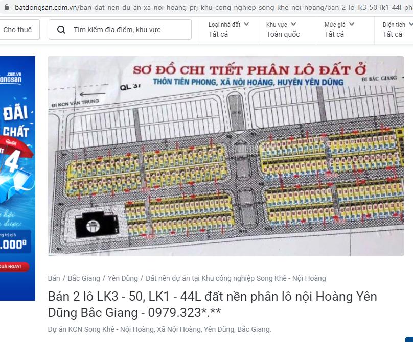Sở Xây dựng tỉnh Bắc Giang công khai danh sách các dự án chưa đủ điều kiện chuyển nhượng