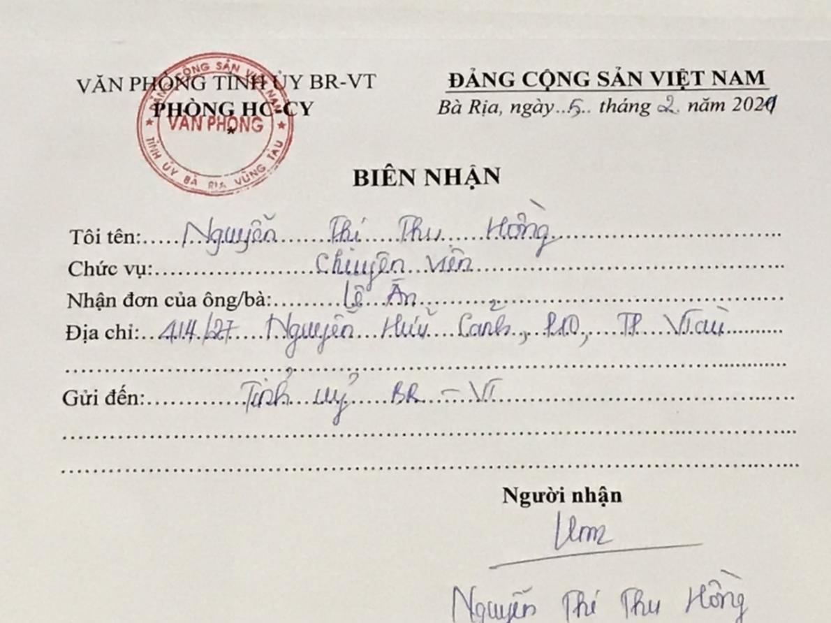 Đại gia Lê Ân gửi đơn khiếu nại lần thứ 16 yêu cầu tỉnh Bà Rịa-Vũng Tàu thi hành 2 bản án hành chính