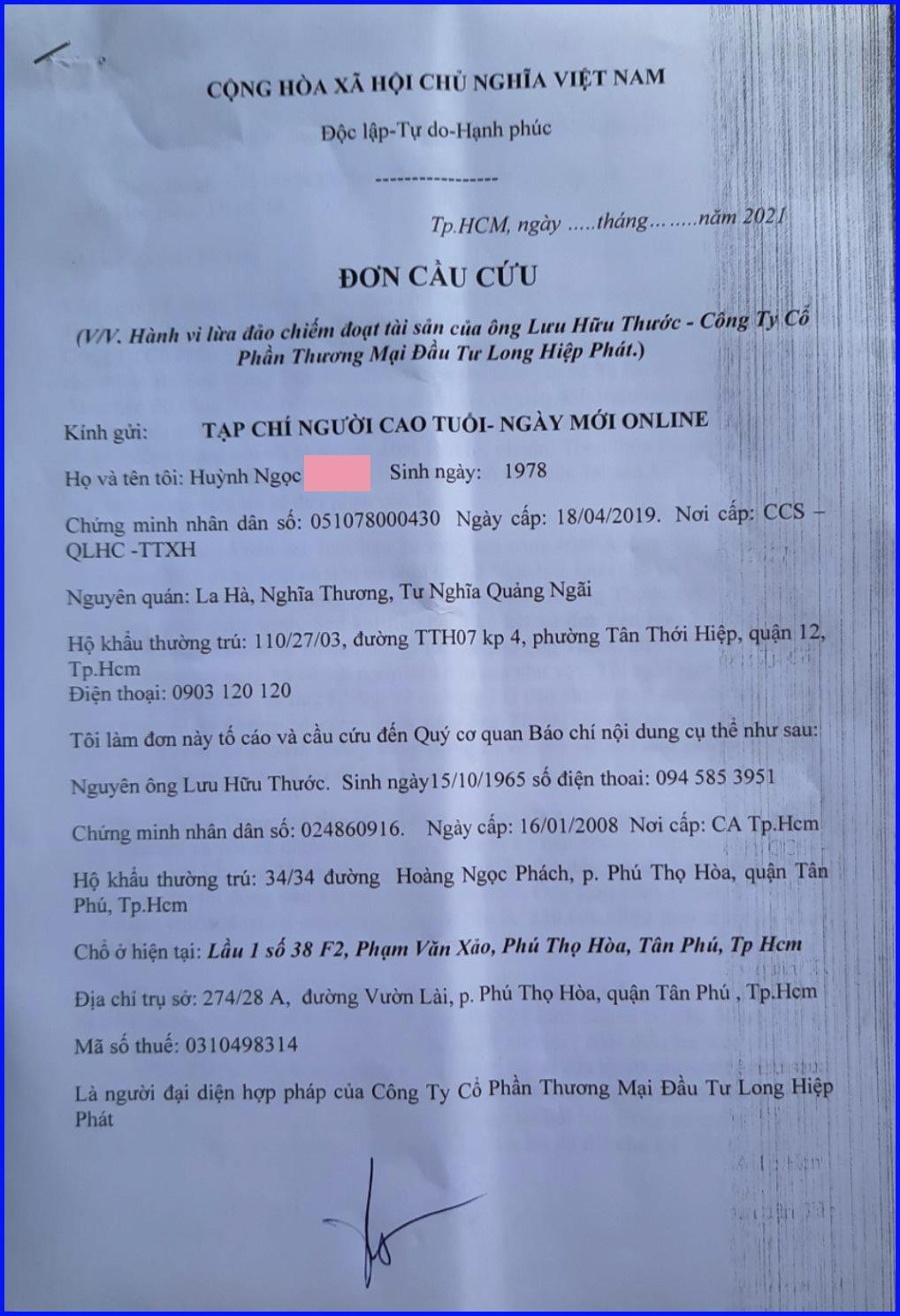 TP Hồ Chí Minh: Sao Công an quận Tân Phú không xử lý đơn tố cáo của công dân theo đúng quy định?