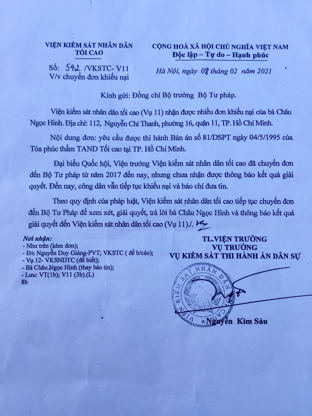 Bản án 26 năm chưa được thi hành tại TP. Hồ Chí Minh: Cần nhìn thẳng vào sự thật để sửa sai