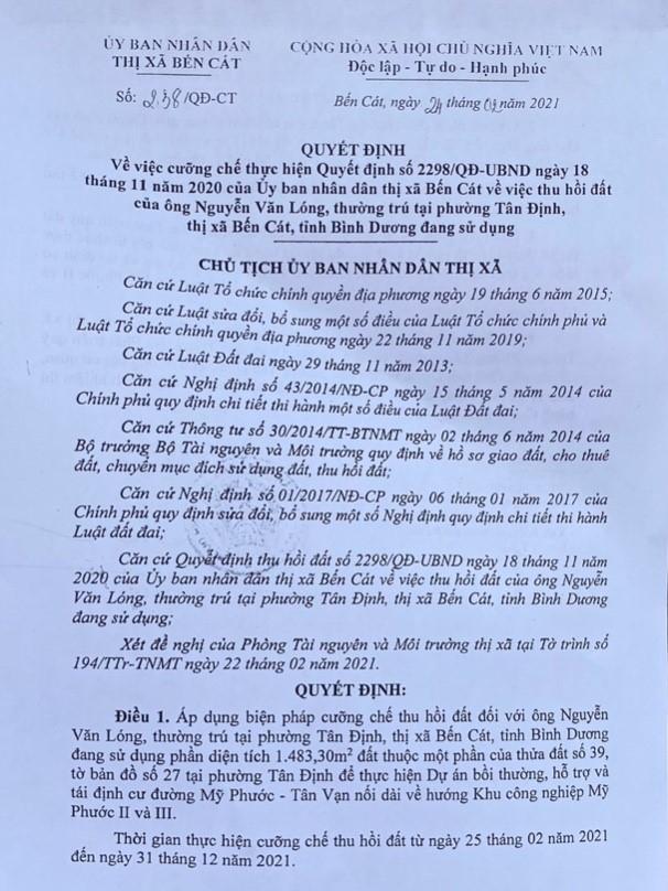 UBND tỉnh Bình Dương: Chậm giải quyết đơn tố cáo Phó Chủ tịch UBND thị xã Bến Cát, vì sao?