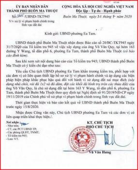 TP Buôn Ma Thuột, tỉnh Đắk Lắk: Cần làm rõ những dấu hiệu sai phạm ở phường Ea Tam